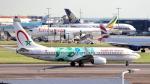 誘喜さんが、ロンドン・ヒースロー空港で撮影したロイヤル・エア・モロッコ 737-86Nの航空フォト(写真)