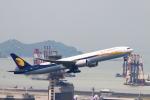 reonさんが、香港国際空港で撮影したジェットエアウェイズ 777-35R/ERの航空フォト(写真)