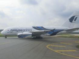 tamonさんが、クアラルンプール国際空港で撮影したマレーシア航空 A380-841の航空フォト(飛行機 写真・画像)