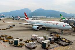 まくろすさんが、香港国際空港で撮影したキャセイドラゴン A330-342の航空フォト(飛行機 写真・画像)