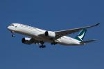 Jinxさんが、ブリスベン空港で撮影したキャセイパシフィック航空 A350-941XWBの航空フォト(写真)