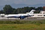 Cスマイルさんが、花巻空港で撮影したユタ銀行 BD-700 Global Express/5000/6000の航空フォト(写真)