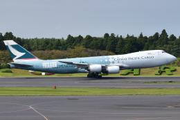 Timothyさんが、成田国際空港で撮影したキャセイパシフィック航空 747-867F/SCDの航空フォト(写真)