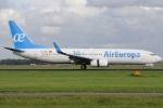 たみぃさんが、アムステルダム・スキポール国際空港で撮影したエア・ヨーロッパ 737-85Pの航空フォト(写真)