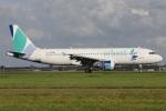 たみぃさんが、アムステルダム・スキポール国際空港で撮影したオーベスト A320-214の航空フォト(写真)