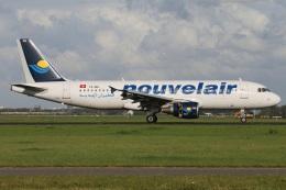 たみぃさんが、アムステルダム・スキポール国際空港で撮影したヌーべルエア・チュニジア A320-214の航空フォト(飛行機 写真・画像)
