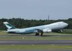 長月ぽっぷさんが、成田国際空港で撮影したキャセイパシフィック航空 747-867F/SCDの航空フォト(写真)