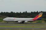 しかばねさんが、成田国際空港で撮影したアシアナ航空 747-48EF/SCDの航空フォト(写真)