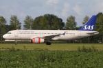 たみぃさんが、アムステルダム・スキポール国際空港で撮影したスカンジナビア航空 A320-232の航空フォト(写真)