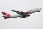 たみぃさんが、ロンドン・ガトウィック空港で撮影したヴァージン・アトランティック航空 747-443の航空フォト(写真)