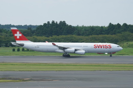 pringlesさんが、成田国際空港で撮影したスイスインターナショナルエアラインズ A340-313Xの航空フォト(写真)