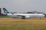 テクノジャンボさんが、成田国際空港で撮影したキャセイパシフィック航空 A330-342Xの航空フォト(写真)