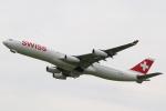 テクノジャンボさんが、成田国際空港で撮影したスイスインターナショナルエアラインズ A340-313Xの航空フォト(写真)