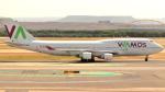 誘喜さんが、マドリード・バラハス国際空港で撮影したワモス・エア 747-412の航空フォト(写真)