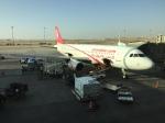 FlyHideさんが、クィーンアリア国際空港で撮影したエア・アラビア・エジプト A320-214の航空フォト(写真)