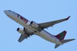 yabyanさんが、関西国際空港で撮影したティーウェイ航空 737-8ASの航空フォト(飛行機 写真・画像)
