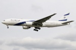 たみぃさんが、ロンドン・ヒースロー空港で撮影したエル・アル航空 777-258/ERの航空フォト(写真)