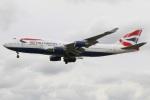 たみぃさんが、ロンドン・ヒースロー空港で撮影したブリティッシュ・エアウェイズ 747-436の航空フォト(写真)