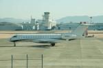 かみきりむしさんが、名古屋飛行場で撮影したウェルズ・ファーゴ・バンク・ノースウェスト BD-700-1A10 Global 6000の航空フォト(写真)
