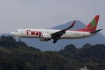 xxxxxzさんが、福岡空港で撮影したティーウェイ航空 737-8K5の航空フォト(飛行機 写真・画像)