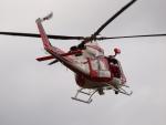 ここはどこ?さんが、朝日航洋札幌航空支社石狩基地で撮影した札幌市消防局消防航空隊 412EPの航空フォト(写真)