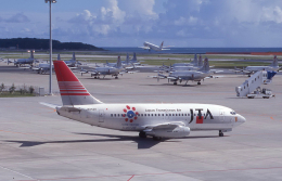 kumagorouさんが、那覇空港で撮影した日本トランスオーシャン航空 737-205/Advの航空フォト(飛行機 写真・画像)