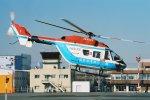 ゴンタさんが、東京ヘリポートで撮影した川崎市消防航空隊 BK117B-2の航空フォト(写真)