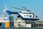 ゴンタさんが、東京ヘリポートで撮影した中日新聞社 BK117C-1の航空フォト(写真)