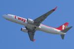 yabyanさんが、関西国際空港で撮影したティーウェイ航空 737-8ASの航空フォト(写真)