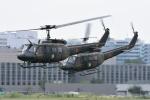 はっくさんが、立川飛行場で撮影した陸上自衛隊 UH-1Jの航空フォト(写真)
