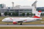 安芸あすかさんが、ミュンヘン・フランツヨーゼフシュトラウス空港で撮影したオーストリア航空 A319-112の航空フォト(写真)