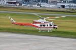 ヘリオスさんが、山形空港で撮影した青森県防災航空隊 412EPIの航空フォト(写真)
