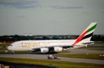 kamerajiijiさんが、ロンドン・ヒースロー空港で撮影したエミレーツ航空 A380-861の航空フォト(写真)