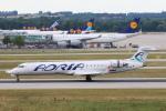 安芸あすかさんが、ミュンヘン・フランツヨーゼフシュトラウス空港で撮影したアドリア航空 CL-600-2C10 Regional Jet CRJ-700の航空フォト(写真)