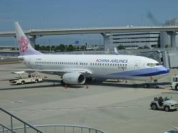 furaibo123さんが、関西国際空港で撮影したチャイナエアライン 737-8Q8の航空フォト(飛行機 写真・画像)