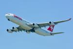 パンダさんが、成田国際空港で撮影したスイスインターナショナルエアラインズ A340-313Xの航空フォト(飛行機 写真・画像)