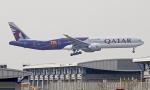 Asamaさんが、香港国際空港で撮影したカタール航空 777-3DZ/ERの航空フォト(写真)