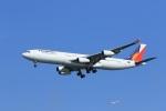 VIPERさんが、羽田空港で撮影したフィリピン航空 A340-313の航空フォト(写真)
