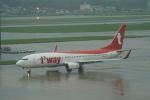 pringlesさんが、福岡空港で撮影したティーウェイ航空 737-8Q8の航空フォト(写真)