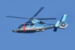 500さんが、自宅上空で撮影した福岡県警察 AS365N3 Dauphin 2の航空フォト(写真)