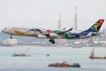 たみぃさんが、香港国際空港で撮影した南アフリカ航空 A340-313Xの航空フォト(写真)