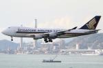 たみぃさんが、香港国際空港で撮影したシンガポール航空カーゴ 747-412F/SCDの航空フォト(写真)