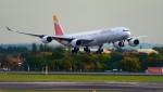 kamerajiijiさんが、ロンドン・ヒースロー空港で撮影したイベリア航空 A340-642の航空フォト(写真)