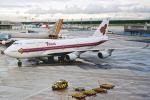 菊池 正人さんが、フランクフルト国際空港で撮影したタイ国際航空 747-4D7の航空フォト(写真)