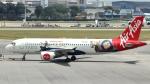 誘喜さんが、シンガポール・チャンギ国際空港で撮影したエアアジア・インドネシア A320-214の航空フォト(写真)