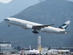 こじゆきさんが、香港国際空港で撮影したキャセイパシフィック航空 777-267の航空フォト(写真)