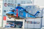 NCT310さんが、東京ヘリポートで撮影した警視庁 AW139の航空フォト(写真)