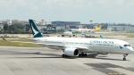 誘喜さんが、シンガポール・チャンギ国際空港で撮影したキャセイパシフィック航空 A350-941XWBの航空フォト(写真)
