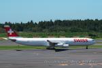 kanadeさんが、成田国際空港で撮影したスイスインターナショナルエアラインズ A340-313Xの航空フォト(写真)