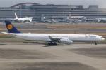 テクノジャンボさんが、羽田空港で撮影したルフトハンザドイツ航空 A340-642Xの航空フォト(写真)